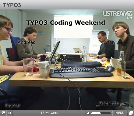 TYPO3 Livestream