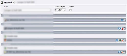 miniCRM Accounts