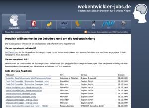 Webentwickler Jobs