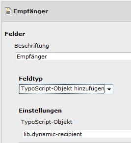 TypoScript-Objekt hinzufügen