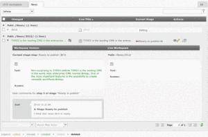 Das neue Workspace Module auf ExtJS Basis