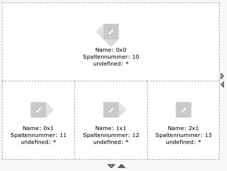 Grid Elements Konfiguration