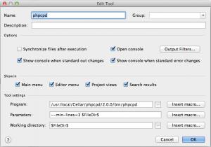 phpcdp als External Tool