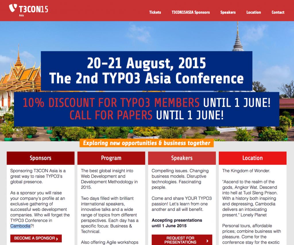 Mehr Infos auf www.t3con15.asia